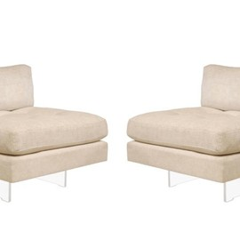 vladimir kagan  - 1970s, slipper chairs with lucite bases