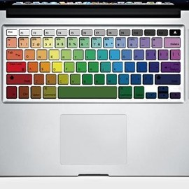 SkinAT - Rainbow MacBook Keyboard Decals