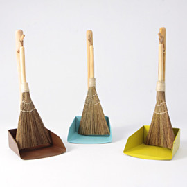 IDEE - Broom & Dustpan S Green Yellow