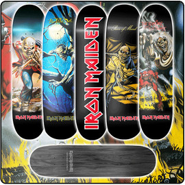 IRON MAIDEN - Skatedeck Set Of 5