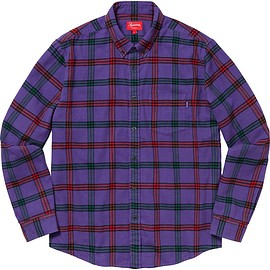 Supreme - Tartan Flannel Shirt Purple