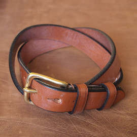 Jabez Cliff - Stirrup Leather Belt #brown