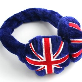 Union Jack Plush Earmuffs