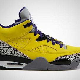 Nike - NIKE JORDAN SON OF MARS LOW TOUR YELLOW/GRAPE ICE-CEMENT GREY-BLACK-WHITE