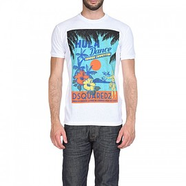 DSQUARED2 - Dsquared2 SS2018 Mens T-Shirt DT244 HULA White