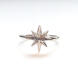 Re:Cocoro - Star Stack Ring in sterling Silver