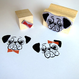 2 rubber stamp - PUG