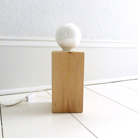 TheVintageCabin - Handmade Modern Wood Block Table Lamp