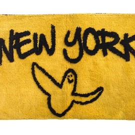 SECOND LAB., Mark Gonzales - GONZ NY RUG  by Mark Gonzales (MUSTARD×BLACK)
