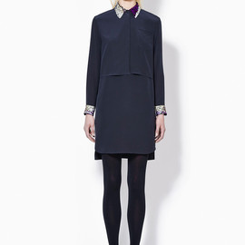 3.1 Phillip Lim - SHIFT DRESS WITH TWILIGHT SEQUIN COLLAR AND CUFFS