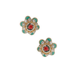 TOPSHOP - Chintz Stud Earrings