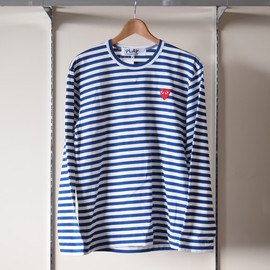 PLAY COMME des GARCONS - 綿天竺ボーダーT-Shirt #blue