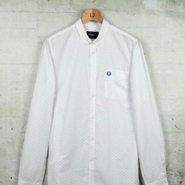 FRED PERRY - Pin Dot Printed Shirt