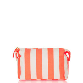 TOPSHOP - Coral Stripe Canvas Make Up