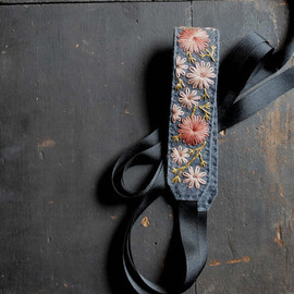 LoveMaude - Wildflower Festival Headband - Coral, Salmon, Mustard Yellow, Grey
