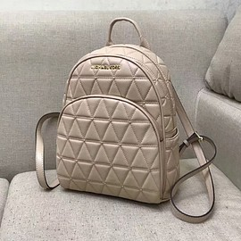 MICHAEL KORS - MICHAEL Michael Kors Abbey Quilted-Leather Backpack Apricot