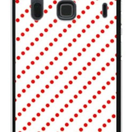 SECOND SKIN - ドットストライプ ホワイト×レッド (ソフトTPUクリア) / for ARROWS NX F-06E/docomo