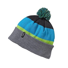 patagonia - Kids' Powder Town Beanie - Huck Stripe: Feather Grey