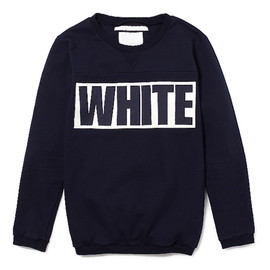 White Mountaineering - FLEECE LINED ROUND NECK SWEAT (navy)