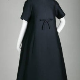 Trapèze afternoon dress, 1958. Mohair. Yves Saint Laurent for Christian Dior, France.