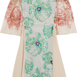 JONATHAN SAUNDERS - Fiona embroidered tulle and crepe dress