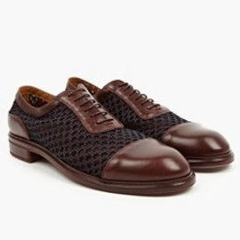 Paul Smith - Burgundy Rocco Mesh Oxford Shoes