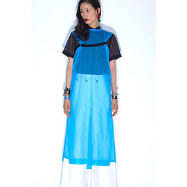 TOGA PULLA - Sheer Knit Derss (blue)