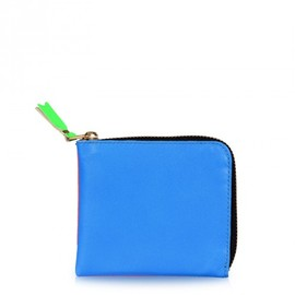 COMME des GARÇONS - Super Fluoro Half Zip-Around Wallet Orange/Blue