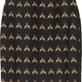 Mother of Pearl - Ursula insect-print cotton-blend skirt