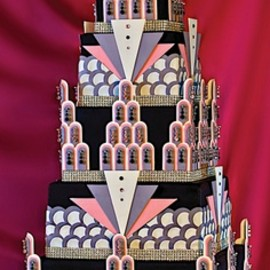 Art Deco Bling Cake with over 6,000 Swarovski crystals