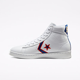 """CONVERSE - Breaking Down Barriers """"Pistons"""" Pro Leather White//Rush Blue"""