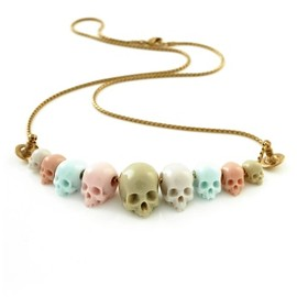 Vivienne Westwood - Skull Bead Small Necklace Pink