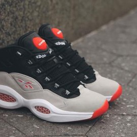 Reebok - REEBOK PUMP QUESTION MID BLACK/STEEL/WHITE/FLUX ORANGE