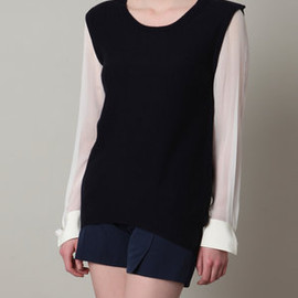 3.1 phillip lim  - Silk and cashmere jumper