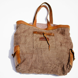MONTAECRISTO - Leather & Jute Tote Bag