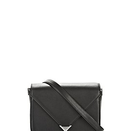 Alexander Wang - PRISMA ENVELOPE SLING IN BLACK WITH RHODIUM