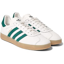 Adidas Originals - Gazelle 85 Suede-Trimmed Leather Sneakers