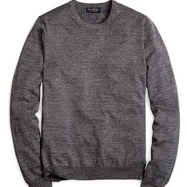 Brooks Brothers - Saxxon Wool Crewneck Sweater Grey