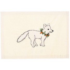 coral&tusk - christmas fox embroidered stationary