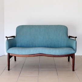 Finn Juhl for Niels Vodder - sofa, NV53 Settee Rose Wood