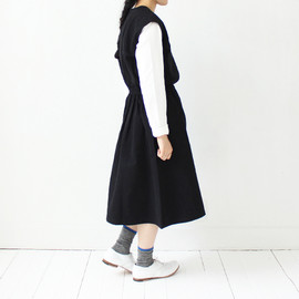 Cotton One-piece 〈 Aimee 〉 / black