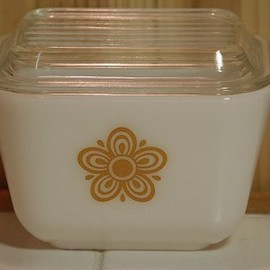 PYREX - butterfly gold refrigerator dish S