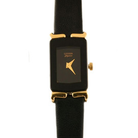 American Apparel - Vintage Citizen Elegance Black Ladies' Leather Band Watch