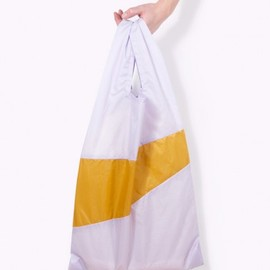SUSAN BIJL - The New Shoppingbag(M)/Lilac + Moutarde