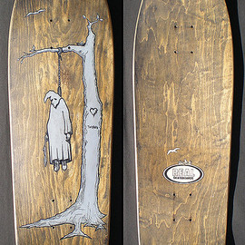 "REAL - JIM THIEBAUD ""HANGING KKK"" skateboard"