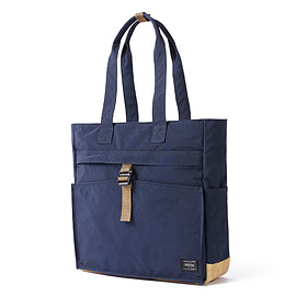 "HEAD PORTER - ""JACKSON"" TOTE BAG NAVY"