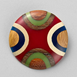 ETRO - Wood Brooch