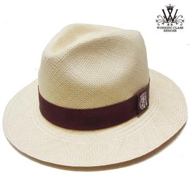 WORKING CLASS HEROES - WCH PANAMA HAT NATURAL/WINE RED