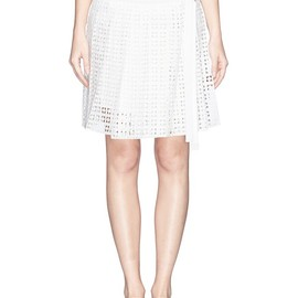 sacai luck - EYELET LACE PLEAT SKIRT