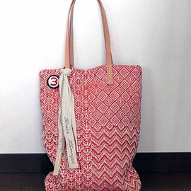 trois temps - Linen Pattern Weaving / Tote Bag